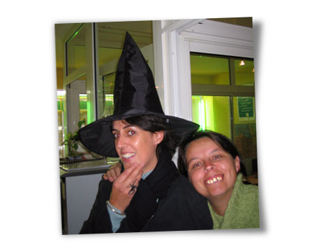 Corinne et Karen Halloween