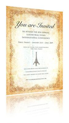 Invitation à la conférence Luxury Real Estate
