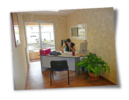 Le bureau de notre gestionnaire Marie-Angèle